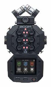 Zoom H8 – Enregistreur de terrain 12 pistes – 1x microphone XY amovible, 4x entrées XLR et 2x XLR combo