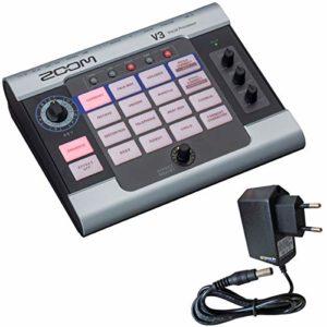Zoom V3 Vocal Processor Appareil d'effet avec bloc d'alimentation 9 V