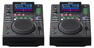 2 x Gemini MDJ-600 Professional CD Player Media DJ Controller USB (paire)