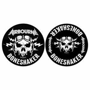 Airbourne DJ SLIPMAT Lot de 2 tapis en feutre Boneshaker