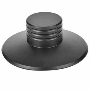 Annjom Pince de Poids d'enregistrement, Black Vibration Weight Balance Tool Tourne-Disque Pince de Disque Stabilisateur de Poids d'enregistrement, Platine Vinyle Home Audio pour Lecteur CD Record