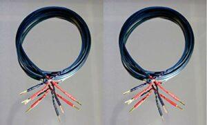 Audioquest Rocket 11 Paire de câbles de haut-parleur avec 2 fiches banane plaquées or 4 mm vers 2 fiches banane plaquées or 4 mm 2.5 Metre Noir