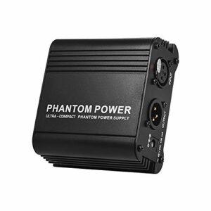 Bedler fantôme power box Micro ultra compact + 48 V alimentation fantôme avec entrée et sortie XLR pour microphone à condensateur Studio enregistrement de musique