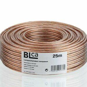 BLCA 25m – 2 x 2.5mm² – Câble Audio pour Enceintes – Câble HP Haut-Parleur en CCA Cuivre pour HiFi et Hi-FI Embarquée