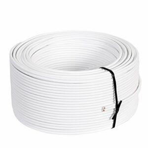 Câble de haut-parleur Misterhifi de 100 m, 2 x 2,5 mm², filde cuivre: 2 x 78 x 0,2mm, isolé blanc, câble en cuivre OFC à 99,99%, fabriqué en Allemagne, câble d'enceinte / câble audio pour haut-parleur et home cinema