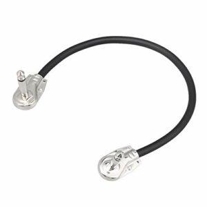 Câble de pédale d'effet 1/4 pour guitare Argenté 30 cm