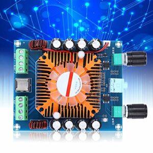 Carte AMP double canal de basse Subwoofer carte amplificateur de puissance stéréo carte amplificateur 4 x 50 W 4 canaux avec ventilateur de refroidissement