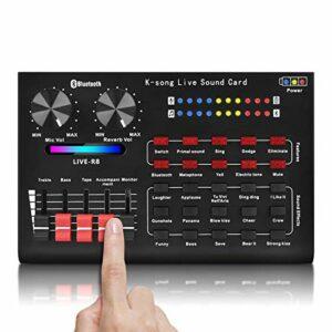 Carte de mixage de son de changeur de voix R8 pour carte son en direct effets sonores multiples mélangeur Audio équipement de chant
