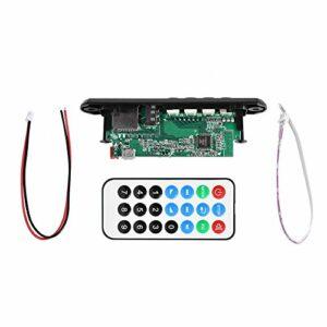 Carte décodeur Bluetooth, DC 12V + 5V Carte décodeur MP3 WMA Module Audio sans Fil Bluetooth avec Fente pour Carte USB et TF, Carte de Module décodeur MP3 Prise en Charge des appels Mains Libres