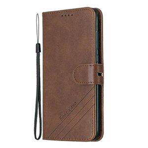 Coque pour [Huawei Honor 9 Lite] Prime PU Cuir Flip Folio Housse Étui Cover Case Wallet Portefeuille Support Dragonne Fermeture Magnétique pour Huawei Honor9 Lite – JEHX010315 Marron