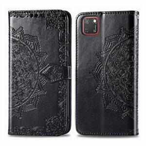 Coque pour Huawei Y5p / Honor 8S Protection Housse en Cuir PU Pochette,[Emplacements Cartes],[Fonction Support],[Languette Magnétique] pour Huawei Y5p – DESD011991 Noir