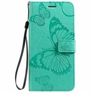 Coque pour LG K40S Coque,Housse en Cuir Flip Case Portefeuille Etui avec Stand Support et Carte Slot pour LG K40S – EYKT041451 Vert