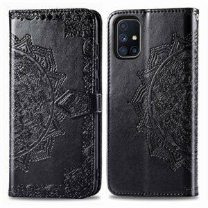 Coque pour Samsung Galaxy M51 Protection Housse en Cuir PU Pochette,[Emplacements Cartes],[Fonction Support],[Languette Magnétique] pour Galaxy M51 – DESD011830 Noir