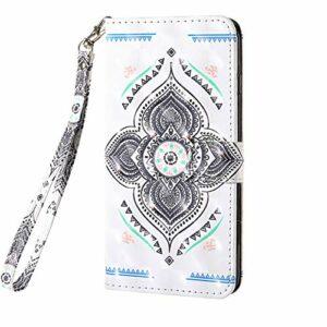 Coque pour Samsung Galaxy Note 20 Ultra Housse Coloré 3D en PU Cuir Premium Flip Case Portefeuille Etui avec Stand Support et Carte Slot magnétique Antichoc Étui pour Galaxy Note 20 Ultra, Mandala