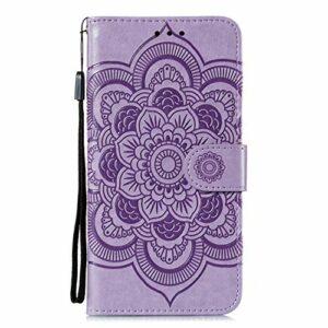Coque pour Sony Xperia L4 Protection Housse en Cuir PU Pochette,[Emplacements Cartes],[Fonction Support],[Languette Magnétique] pour Sony Xperia L4 – DEEB011656 Violet