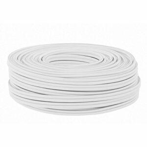 DCSk 25m – 2 x 1.5mm² – Câble Audio Blanc pour Enceintes – Câble HP Haut-Parleur en Cuivre pour HiFi et Hi-FI Embarquée – Fabrication Allemande