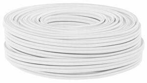 DCSk 50m – 2 x 2.5mm² – Câble Audio Blanc pour Enceintes – Câble HP Haut-Parleur en Cuivre pour HiFi et Hi-FI Embarquée – Fabrication Allemande