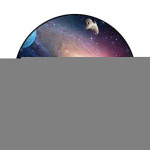 DTNSSTB Voie Lactée Espace Lune Cercle Tapis Salon Chambre Chambre Décoration Ronde Antidérapant Tapis Bébé Tapis Rampant Tapis de Jeu pour Enfants 80Cm