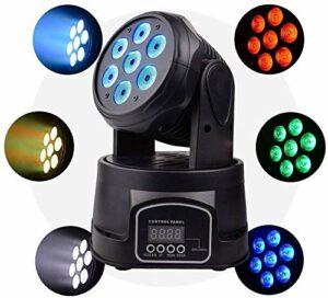 Éclairage de scène- Éclairage de scène échantillon, DMX 512 éclairage de scène de LED 7x8W Professional Mini spots DJ montrent des bandes 4-en-1 Effet stroboscopique 9/14 canaux for restaurant, club,