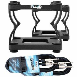 Fluid Audio DS5 Trépied de table avec 2 câbles jack 3 m