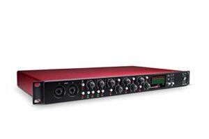 Focusrite Scarlett Microphone Pre Expansion 8canaux avec affichage analogique de compression, 8 ports d'entrée et 8 ports de sortie OctoPre