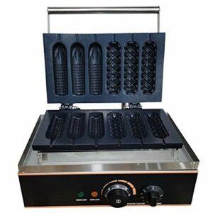Gaufrier électrique en acier inoxydable pour hotdog avec revêtement anti-adhésif en 6 parties 1500 W 0~5 min