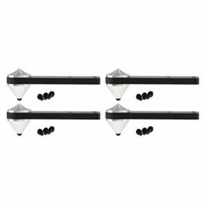 gazechimp Supports de plancher de haut-parleur de 4 pièces, ensemble de pointes de haut-parleur