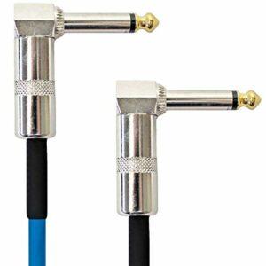 Keepdrum GC028 Câble patch jack coudé Bleu 60 cm