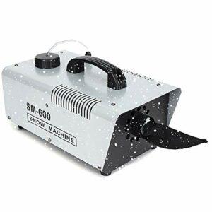 LNLN Machine à Neige 600W, Machine à AtmosphèRe De NoëL, Machine à Effet Blizzard, TéLéCommande sans Fil, Fabrication D'AtmosphèRe De NoëL/Jardin/Mariage