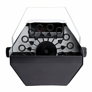 Machine à bulles 25 W 220 V Portable DJ Machine à bulles de savon électrique pour mariage, théâtre, fête et disco Club DJ – Puissance élevée argenté