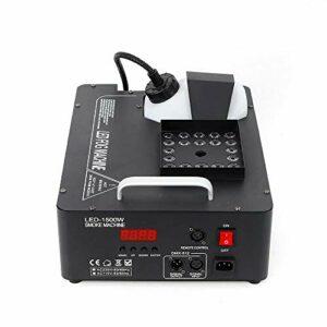 Machine à Fumée 1500W Machine à Brouillard avec Télécommande LED Machine à Fumée 3 en 1Idéal pour Halloween, Noël, Mariages, Spectacles sur scène etc