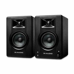 M-Audio BX3 – Enceinte de Bureau / de Monitoring Active 120 W pour le Jeu Vidéo, la Production Musicale, le Streaming et le Podcast (Paire)