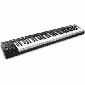 M-Audio Keystation 61Mk3 – Clavier Maître Midi 61 Touches Semi-Lestées, Alimenté Par Usb, Commandes Paramétrables, Molettes Pitch/ Modulation, Connexion Plug-And-Play (Mac/Pc) et Logiciel de Studio