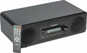 MELODY-PLUS – Madison – Haut-parleur de bureau Multi-source DAB+ / 36W RMS (Lecteur CD, USB, Bluetooth, AUX-IN, Tuner FM et DAB+)