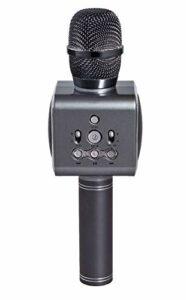 MLHXHX Microphone à condensateur sans fil et machine audio tout-en-un, multifonction, modèle privé, microphone intelligent portable, le meilleur cadeau gris argenté