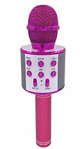 MLHXHX Microphone de karaoké sans fil avec lumières LED contrôlables – Haut-parleur portable pour karaoké – Cadeau d'anniversaire, de fête, de voyage – Artefact K Song – Violet