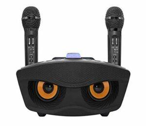 MLHXHX Microphone sans fil Bluetooth karaoké sans fil avec microphone Bluetooth et microphone stéréo intégré – Cadeau enfant haut de gamme – Noir