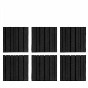 Mousse insonorisée acoustique Studio 50X50X5cm panneaux de mousse acoustique, panneaux acoustiques, forme de(Black (folded and shipped))