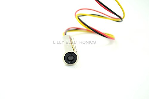 NEW 650 nm 10 mW Laser Rouge Dot Diode Module avec TTL (12 x 12 x 35 mm)