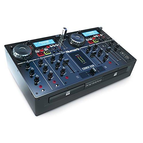 Numark CDMix USB Platine CD et MP3 à Plat, Système DJ Compact et Nomade Tout-En-Un avec 2 Lecteurs CD et 2 Ports USB