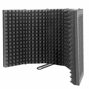 Odoukey Isolation Micro Cover Pop-up Filtre Eva Mousse Noire Cinq plaques Appareil d'enregistrement Pliable