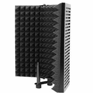 Odoukey Isolation Microphone Cover Bounce Filtre Eva Mousse Noire Cinq plaques Pliable Recording Studio Matériel d'enregistrement Cover Microphone à condensateur