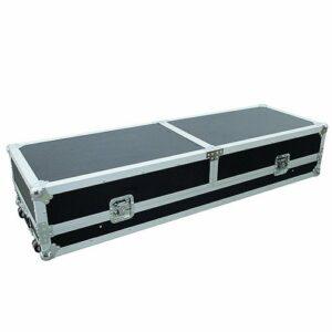 Omnitronic 059574 Table Console route 2 x TT avec plateau portable Noir