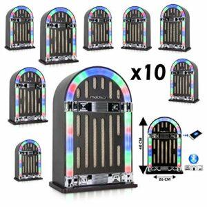 PACK DE 10 JUKE BOXE à prix fou – Bluetooth Batterie PA SONO MIX Cadeau anniversaire déco maison salon bureau rétro année 60