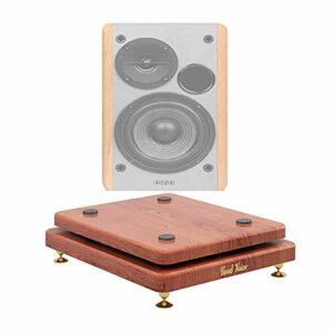 Pied d'enceinte, étagère de Plancher Boîte de Plancher Support Central de Caisson de Basses Base de Plateau de trépied, réduction des Vibrations et du Bruit. (Color : 1pcs, Size : 35 * 40CM)