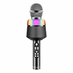 QiHaoHeji Karaoke Player sans Fil Microphone à Main Microphone Karaoké (Couleur : Black, Size : One Size)
