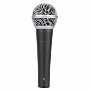QiHaoHeji Professional Handheld Filaire Dynamique Mic Microphone Microphone Karaoké (Couleur : Black, Size : One Size)
