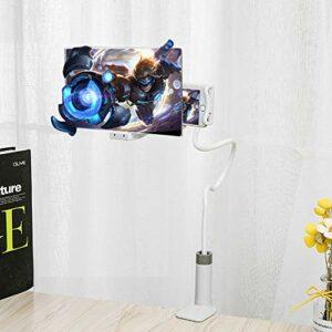 QK Loupe d'écran de téléphone Zoom 3 à 4 Fois, agrandisseur d'amplificateur d'écran 12 Pouces, amplificateur de téléphone Portable Portable Home Cinema,Blanc
