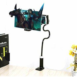 QK Loupe d'écran de téléphone Zoom 3 à 4 Fois, agrandisseur d'amplificateur d'écran 12 Pouces, amplificateur de téléphone Portable Portable Home Cinema,Noir