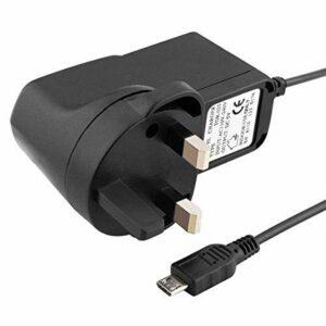 REYTID Câble USB secteur britannique compatible avec Amazon Echo Dot 1ère et 2ème génération Alexa haut-parleur – Câble de charge audio haut-parleurs Bluetooth